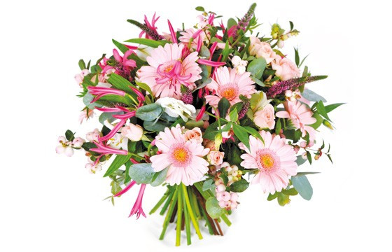 Image du bouquet de fleurs rond Dédicace