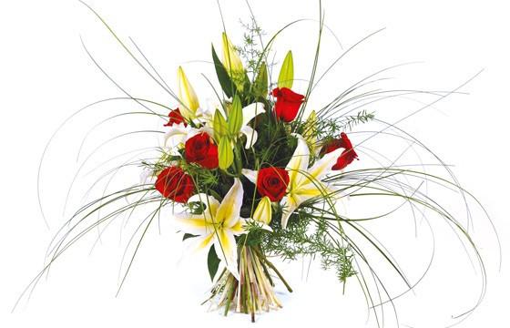 Image du bouquet de fleurs multi couleur Duchesse