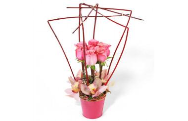 L'Agitateur Floral |Image de la composition de fleurs Lady Rose