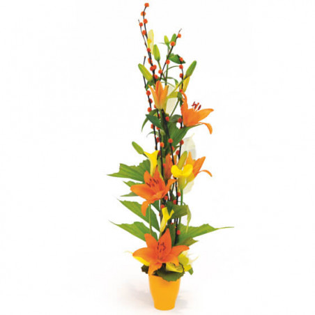 L'Agitateur Floral | Image de la composition florale orange Abricot