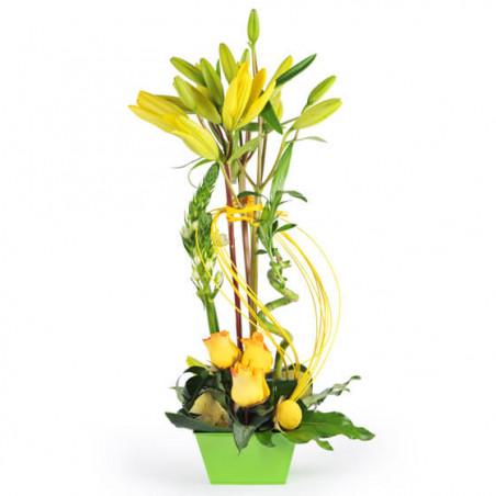 L'Agitateur Floral |Image de la composition de fleurs Rêve de Lys