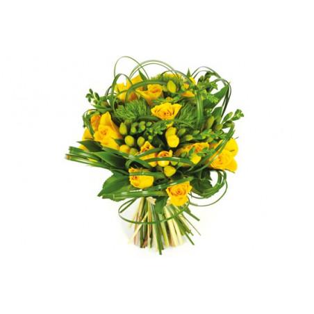 Image du bouquet de fleurs Vert tige dans les tons jaune et vert