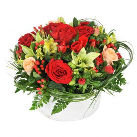L'Agitateur Floral |image de la composition florale dans les tons rouges Muse