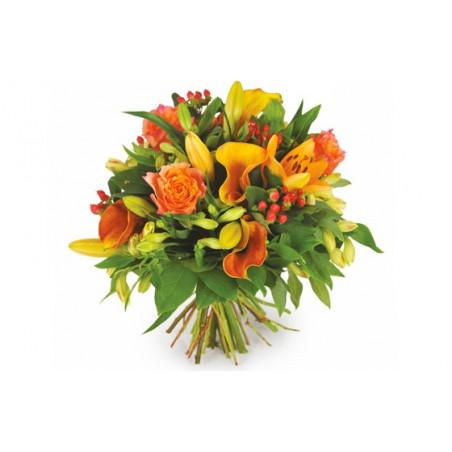 Image du Bouquet rond de fleurs Tonique