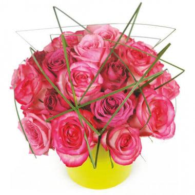 L'Agitateur Floral | image de la composition de roses roses Traviata