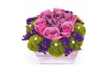 L'Agitateur Floral | image de la composition de roses fuchsia Victoria