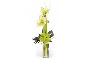 L'Agitateur Floral | image du bouquet linéaire de saison avec amaryllis Un hiver à paris