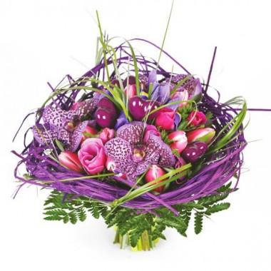 L'Agitateur Floral | image du Bouquet de fleurs mauve So-Chic