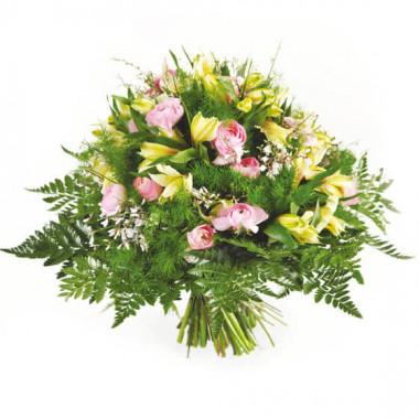 L'Agitateur Floral | Image de couverture bouquet rond de roses Vaporeux