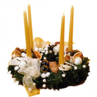 L'Agitateur Floral   image de la Couronne de Noël L'Avent Nature