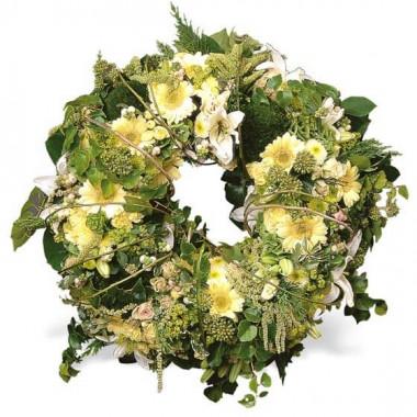 L'Agitateur Floral | image de la couronne de fleurs mortuaire Pensée Infinie