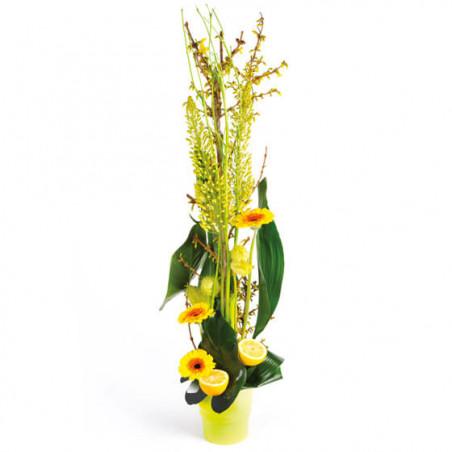 L'Agitateur Floral |image de la composition de fleurs tons vert Sunlight