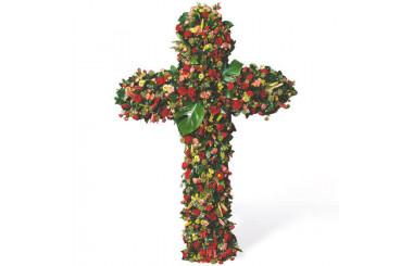 L'Agitateur Floral | image de la croix de deuil de fleurs rouges du nom de Les Cieux