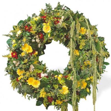 L'Agitateur Floral | image de la couronne de fleurs de deuil du nom de ciel étoilé