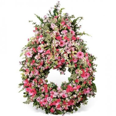 L'Agitateur Floral | image de la Couronne de fleurs roses Sérénité Eternelle