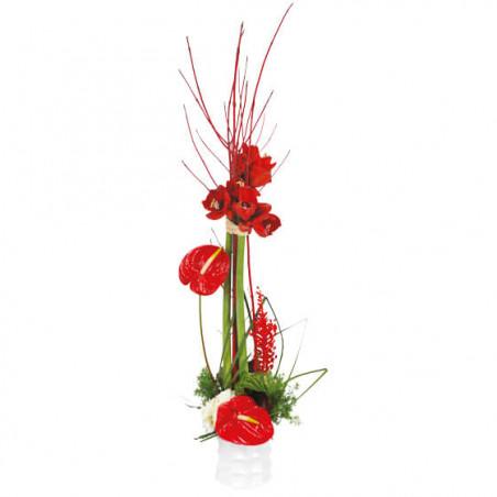 L'Agitateur Floral |Image de couverture composition de fleurs Arum