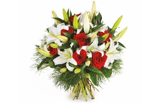 Image du bouquet rond de fleurs Délicatesse