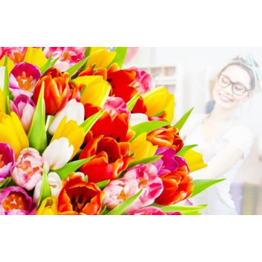 L'Agitateur Floral | image du Bouquet Surprise de Tulipes Colorées