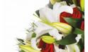 image d'un lys blanc du bouquet de fleurs