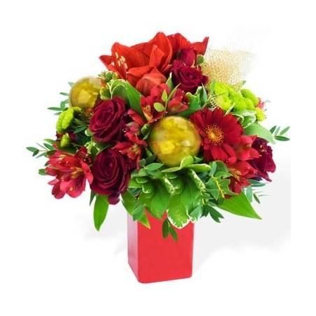 L'Agitateur Floral | image du Bouquet du fleuriste Noël Rouge