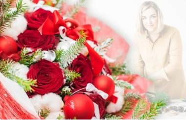 L'Agitateur Floral |image du Bouquet Surprise de Noël tons rouge et blanc