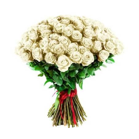 L'Agitateur Floral | image du Bouquet de Roses Blanches longues tiges