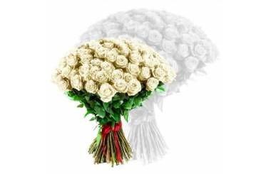 L'Agitateur Floral | image du bouquet de roses blanches coutes tiges