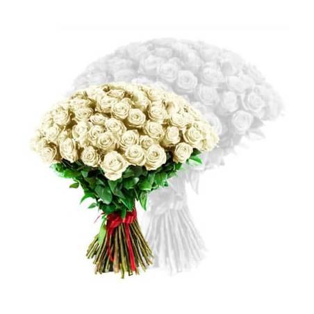 L'Agitateur Floral | image du bouquet de roses blanches coutes tiges