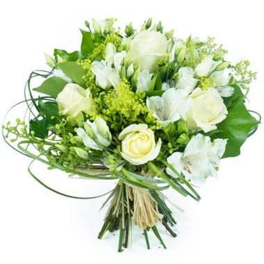 L'Agitateur Floral | image principale du bouquet de fleurs blanches Clarté