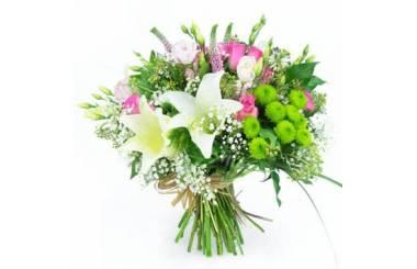 L'Agitateur Floral | image du Bouquet rond de fleurs Lily Rose