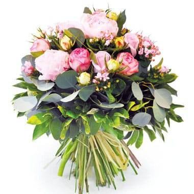 L'Agitateur Floral | image du Bouquet de pivoines roses Camille