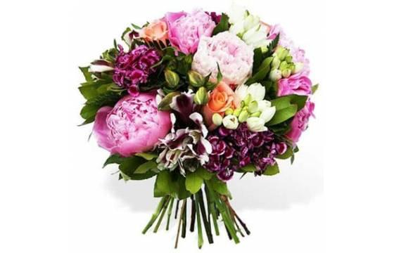 L'Agitateur Floral | image du Bouquet rond de saison du nom de Câlin