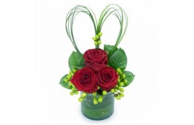 L'Agitateur Floral | image de la composition de roses rouges vérone
