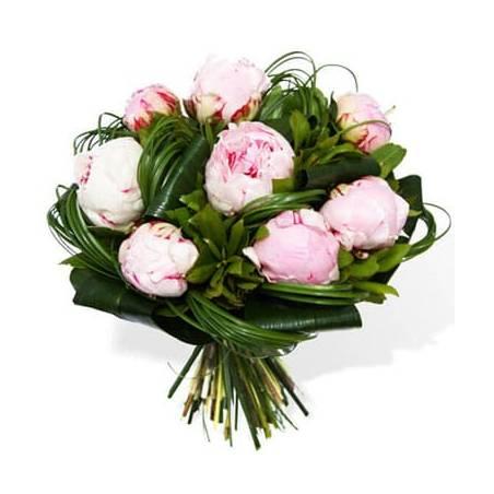 L'Agitateur Floral | image du Bouquet rond de Pivoines roses