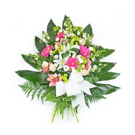 L'Agitateur Floral |image de la gerbe de fleurs dans les tons rose & blanc