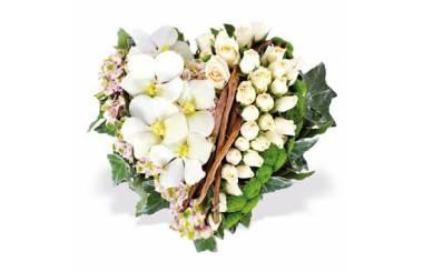 L'Agitateur Floral | Image du coeur de deuil dans les tons blancs Douceur