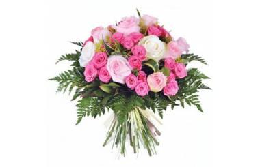 L'Agitateur Floral | image du bouquet de roses roses pompadour