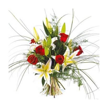 L'Agitateur Floral |Image du bouquet de fleurs multi couleur Duchesse