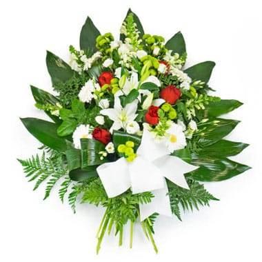 L'Agitateur Floral | image de la berge de fleurs dans les tons rouge & blanc