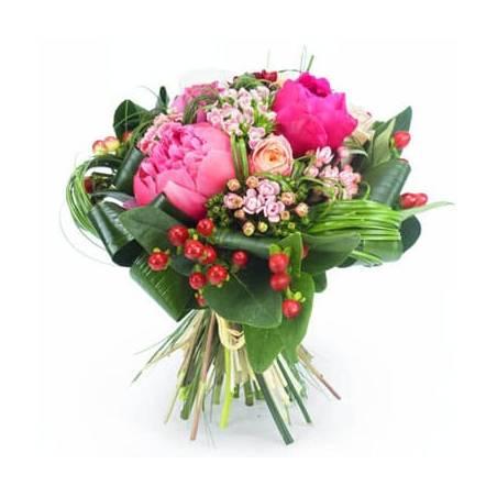 L'Agitateur Floral | image du bouquet de fleurs tons roses