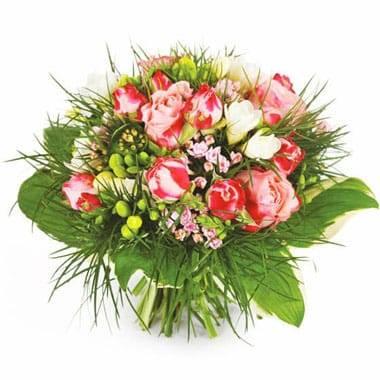 L'Agitateur Floral |Image du bouquet de fleurs rond Caresse