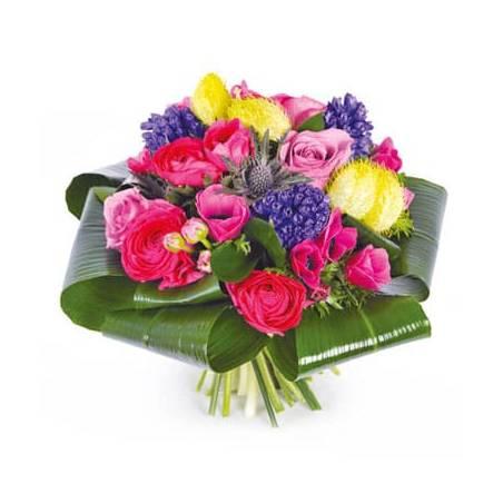 L'Agitateur Floral   image du Bouquet rond de saison Sarah