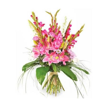 L'Agitateur Floral |Image du Bouquet de fleurs rose Eclatant