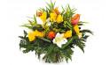 Image du bouquet de fleurs tons jaune et orange Fleurs d'orangé