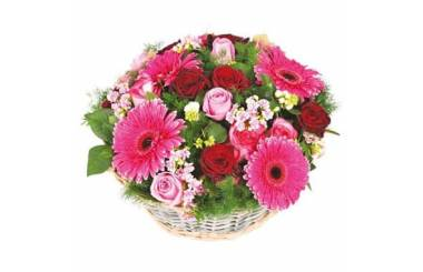L'Agitateur Floral |Image principale de la Composition de fleurs roses Grenadier