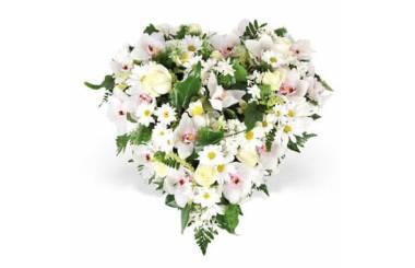 L'Agitateur Floral | image du coeur de fleurs pour un deuil nuage