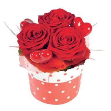 L'Agitateur Floral | image de la composition pas chères de roses rouges Roméo
