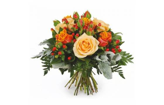 L'Agitateur Floral | Image du bouquet de roses orange et saumon