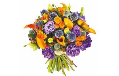 L'Agitateur Floral |image du bouquet de fleurs mauve et orange Luberon