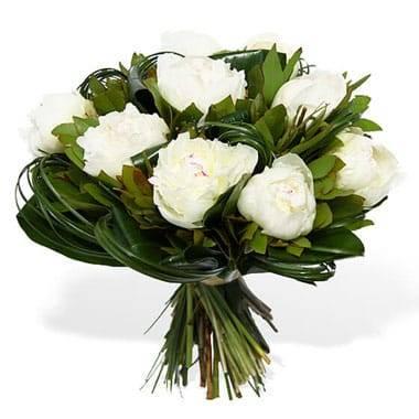 Bouquet Rond de Pivoines Blanches